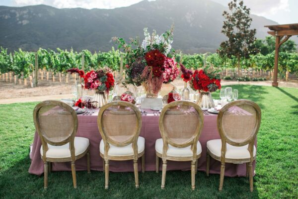 Romantic Wedding Shoot for Valentine's Day at California Vineyard