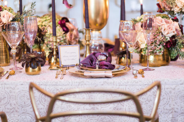 """Luxe Launch 2017 """"Luscious Romance"""" Tabletop Featured on Strictly Weddings"""